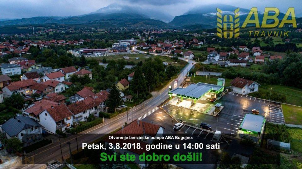 U petak, 3.8.2018. godine otvorenje nove benzinske pumpe ABA u Bugojnu